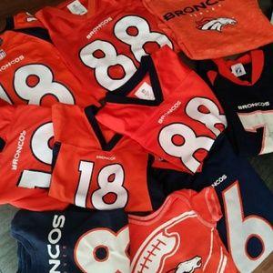 NFL Denver Broncos Bundle 10 Jerseys Shirts